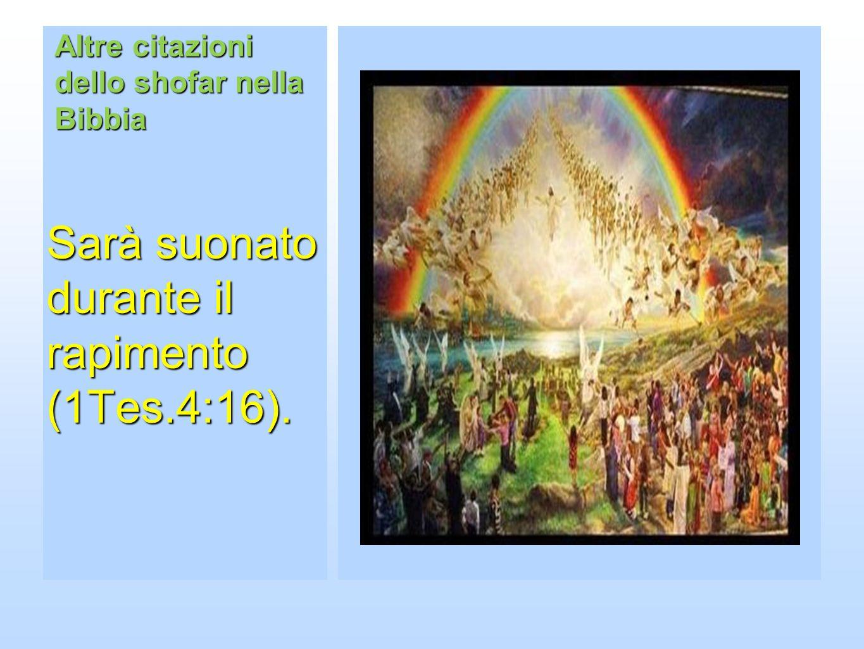 Altre citazioni dello shofar nella Bibbia