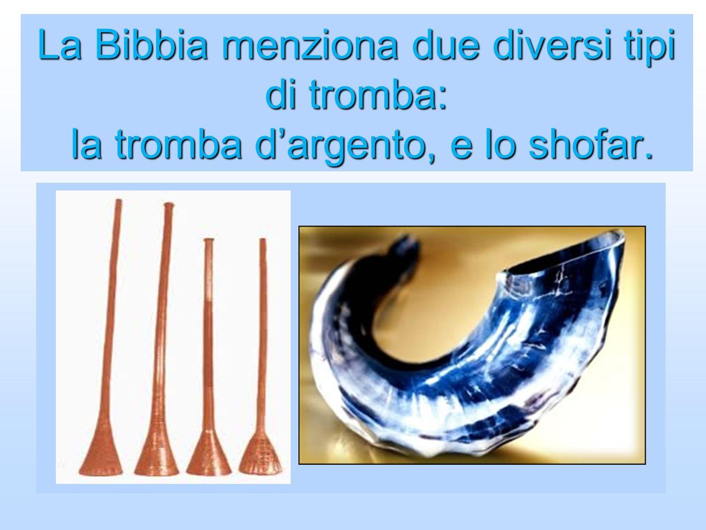 La Bibbia menziona due diversi tipi di tromba: la tromba d'argento, e lo shofar.