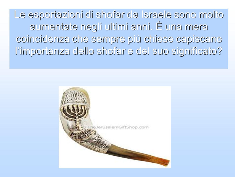 Le esportazioni di shofar da Israele sono molto aumentate negli ultimi anni.
