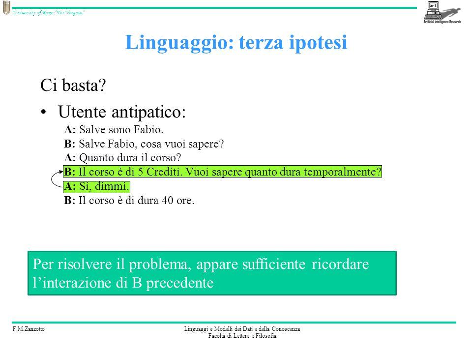 Linguaggio: terza ipotesi