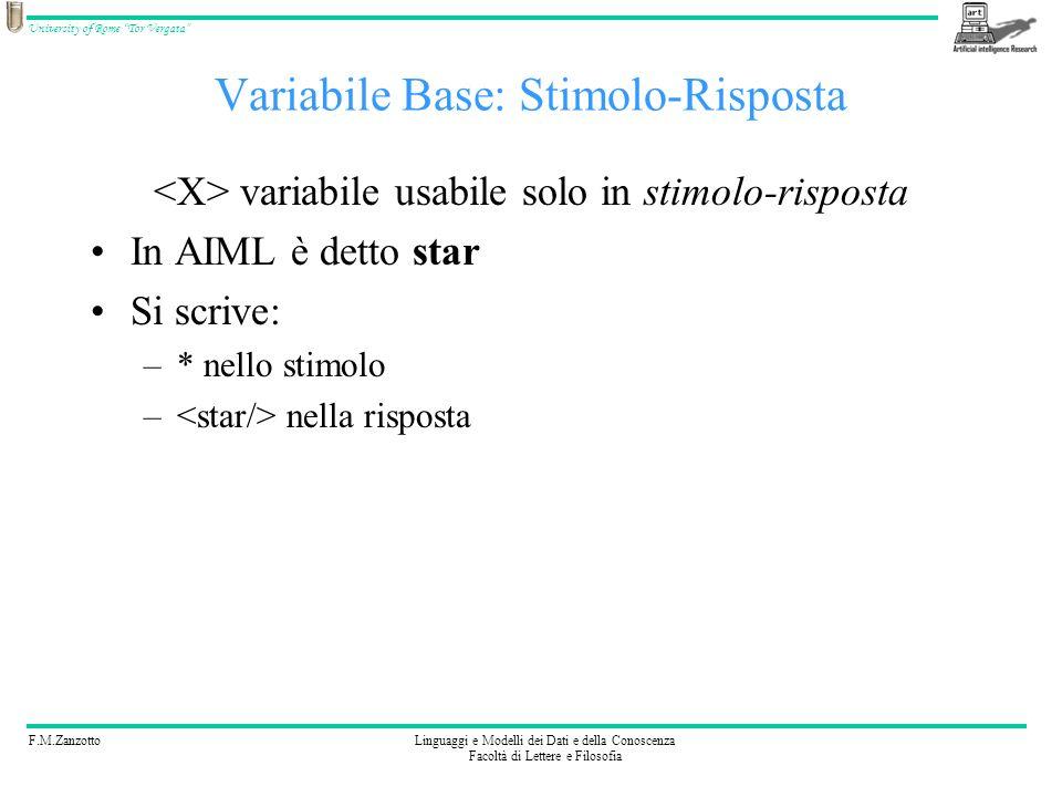 Variabile Base: Stimolo-Risposta