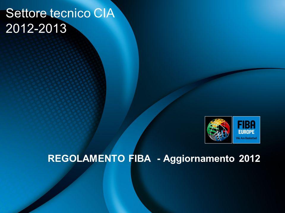 REGOLAMENTO FIBA - Aggiornamento 2012