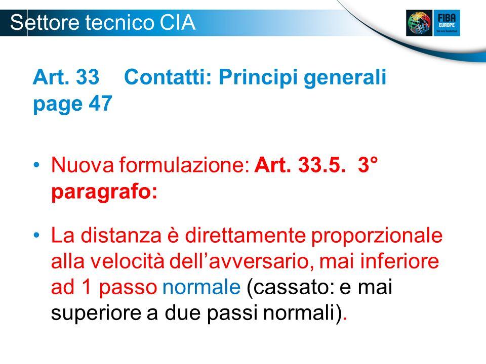 Art. 33 Contatti: Principi generali page 47