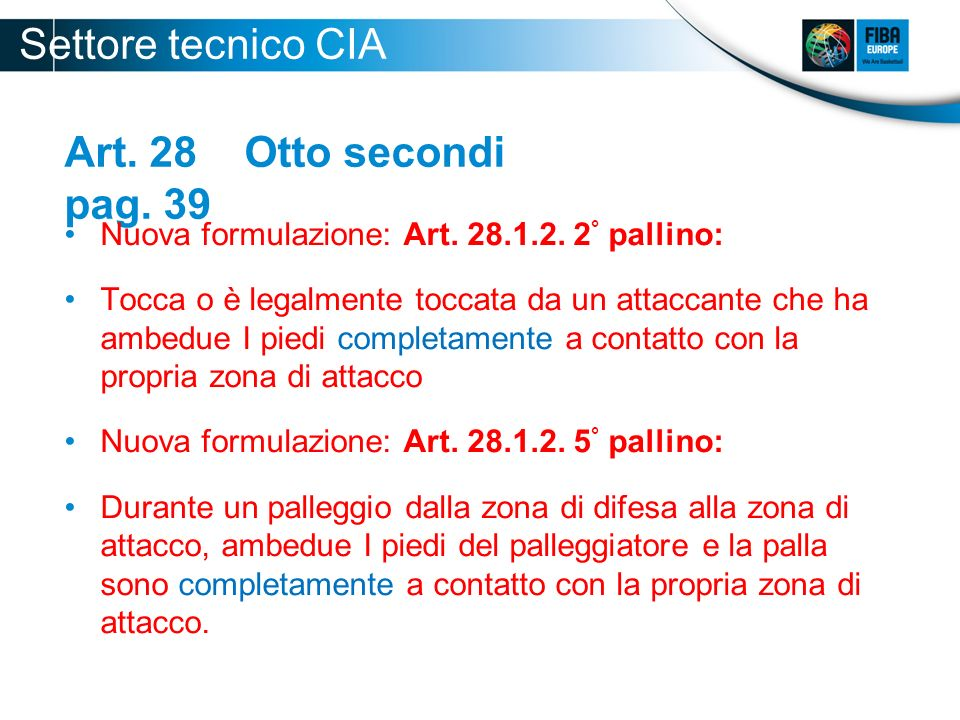 Settore tecnico CIA 2012-2013 Art. 28 Otto secondi pag. 39