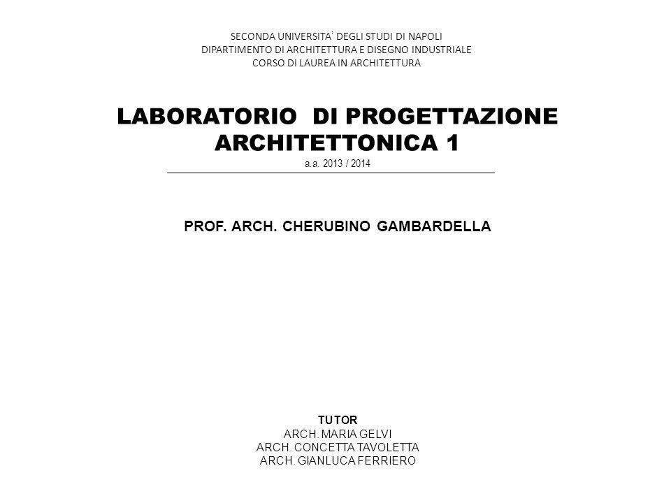 PROF. ARCH. CHERUBINO GAMBARDELLA