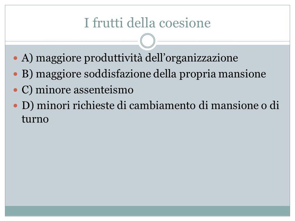 I frutti della coesione