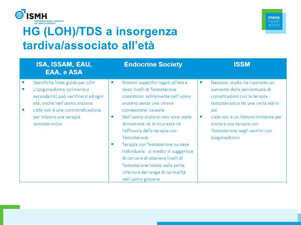 HG (LOH)/TDS a insorgenza tardiva/associato all'età