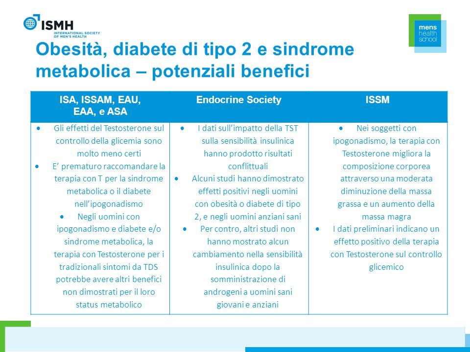 Obesità, diabete di tipo 2 e sindrome metabolica – potenziali benefici