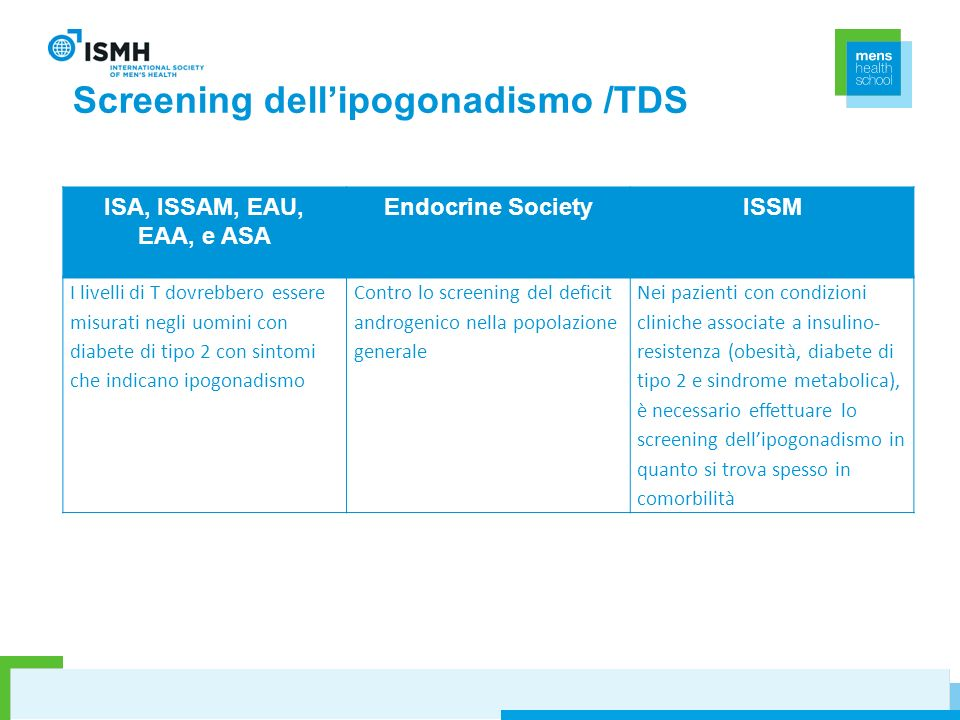 Screening dell'ipogonadismo /TDS