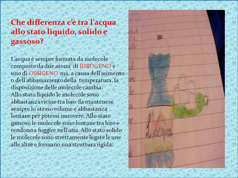 Che differenza c'è tra l'acqua allo stato liquido, solido e gassoso