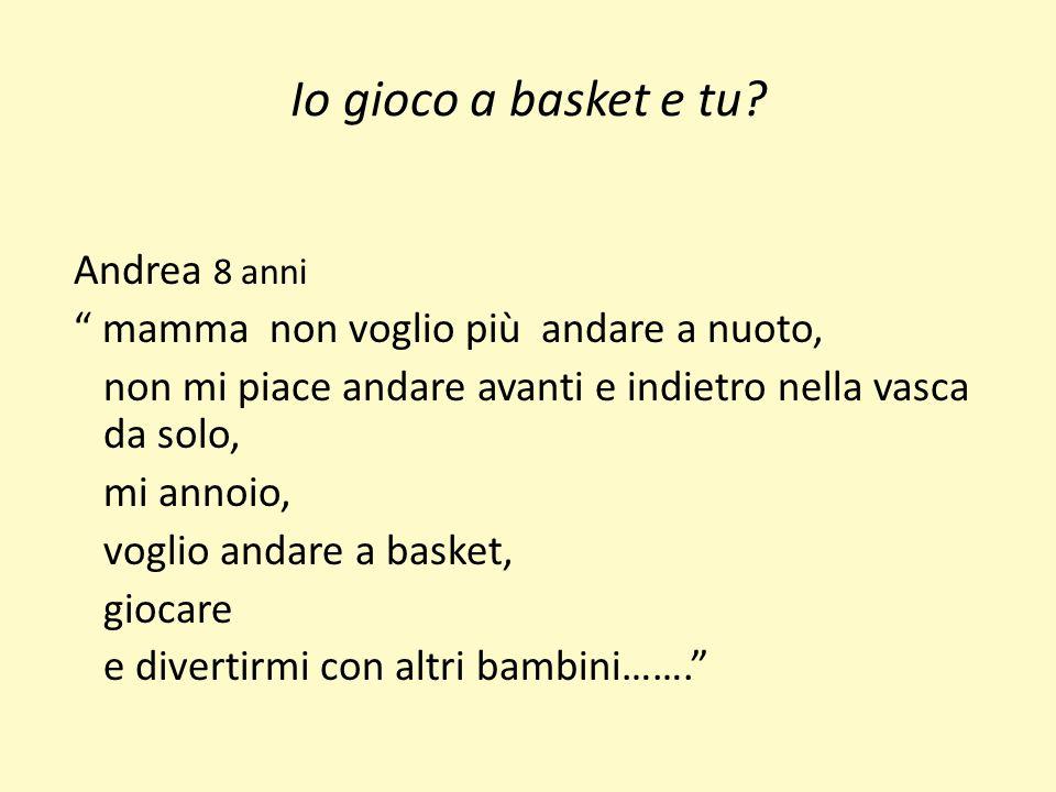 Io gioco a basket e tu