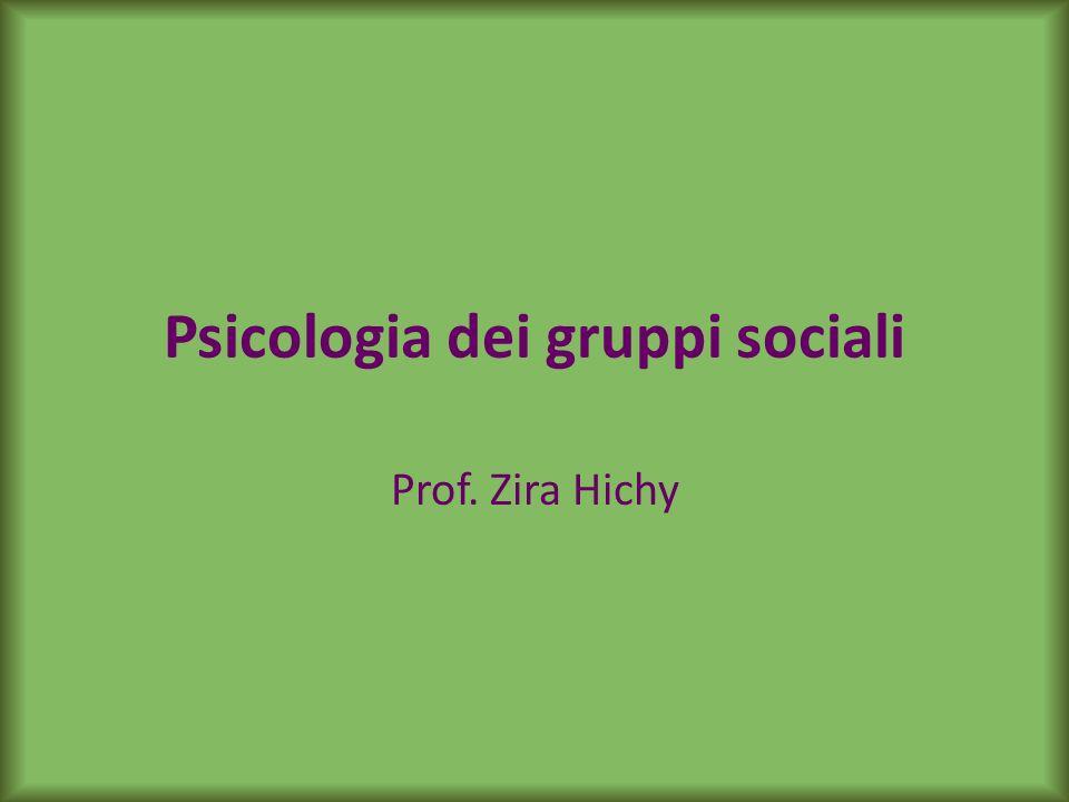 Psicologia dei gruppi sociali