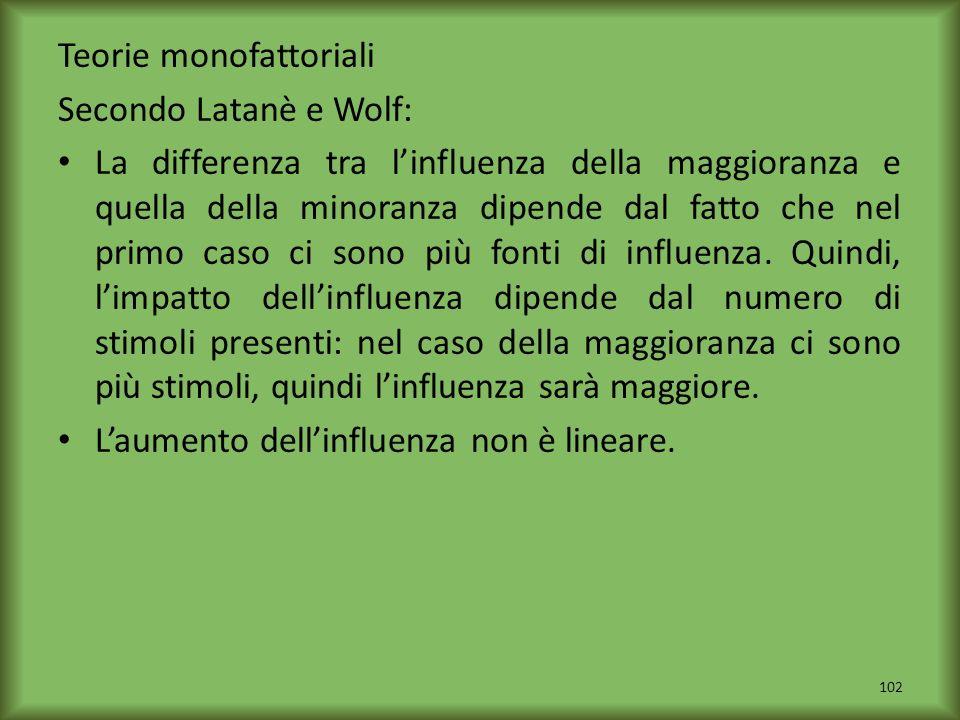 Teorie monofattoriali