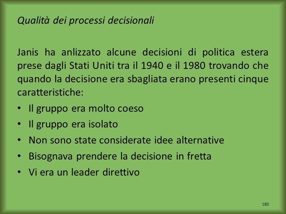 Qualità dei processi decisionali