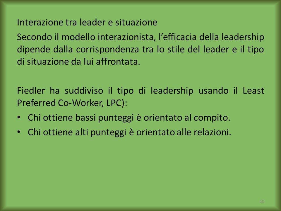 Interazione tra leader e situazione