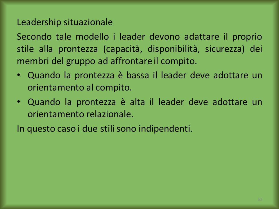 Leadership situazionale