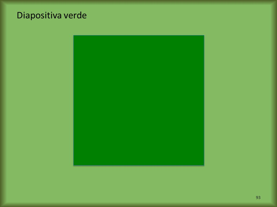 Diapositiva verde
