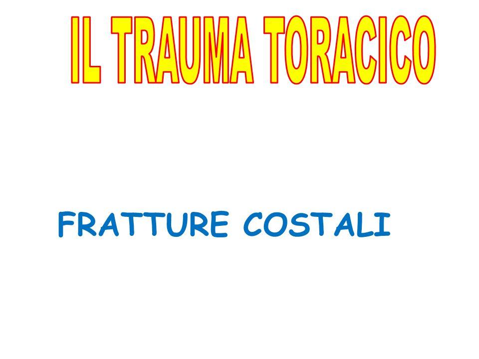 IL TRAUMA TORACICO FRATTURE COSTALI