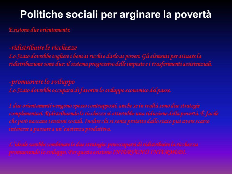 Politiche sociali per arginare la povertà
