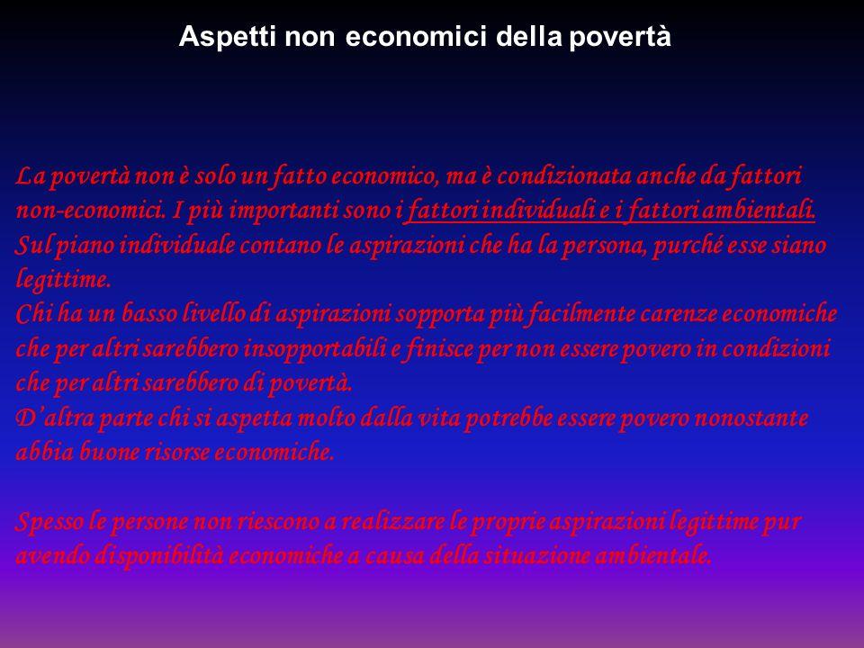 Aspetti non economici della povertà