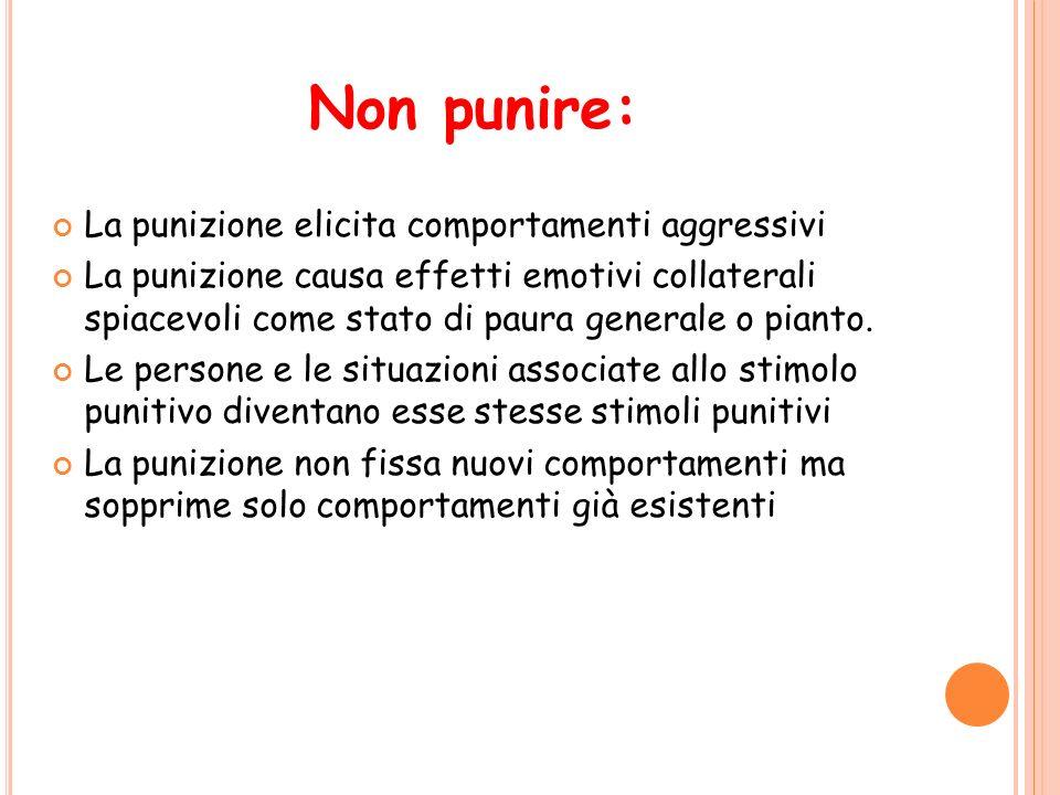 Non punire: La punizione elicita comportamenti aggressivi
