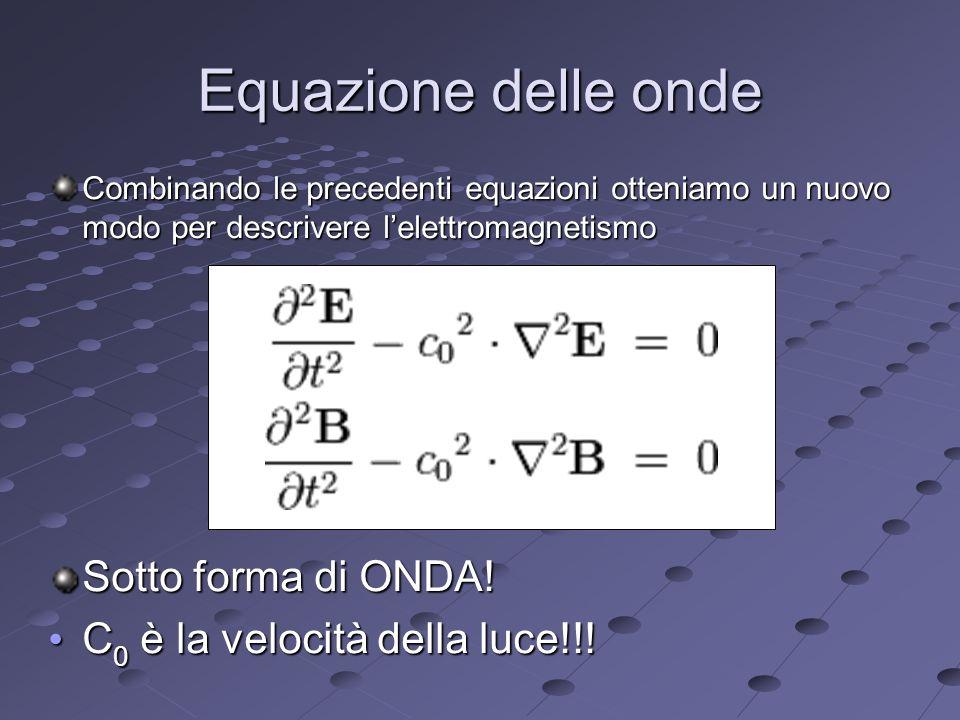 Equazione delle onde Sotto forma di ONDA!