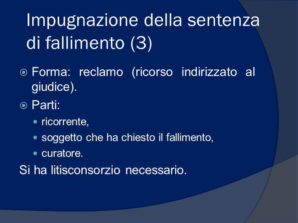Impugnazione della sentenza di fallimento (3)