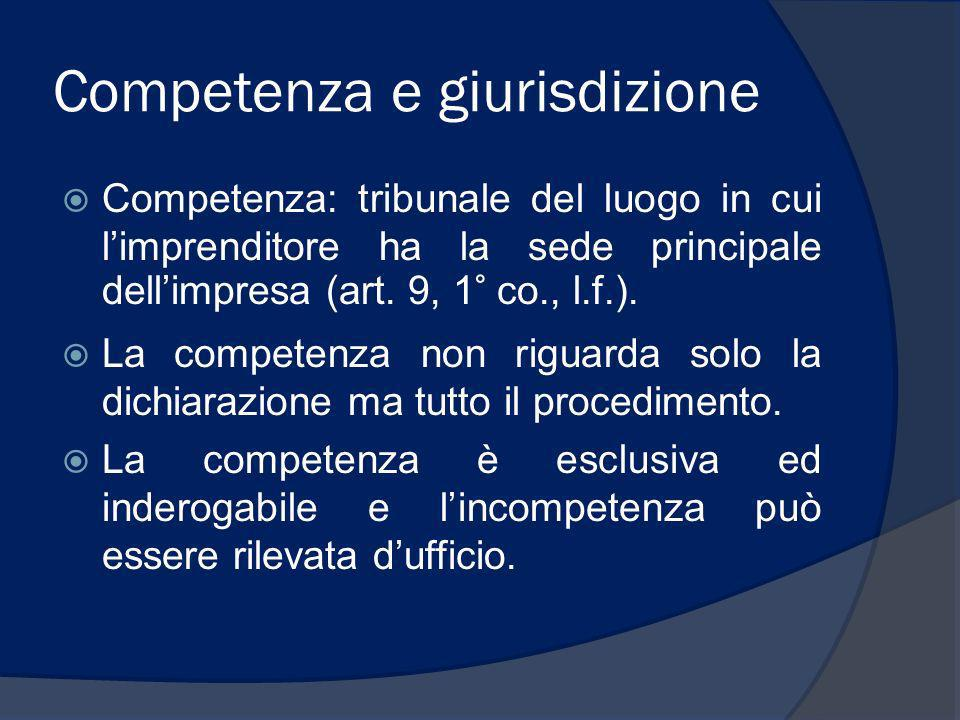 Competenza e giurisdizione