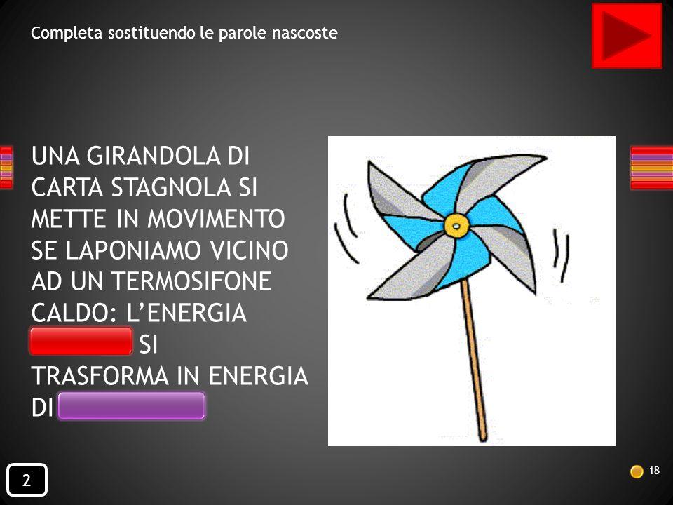 TRASFORMA IN ENERGIA DI MOVIMENTO