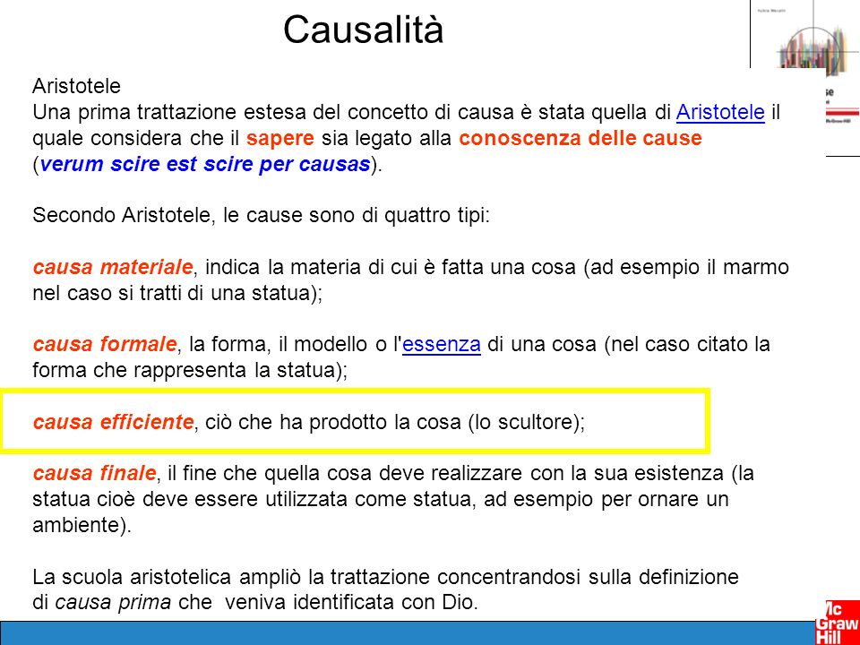 Causalità Aristotele.