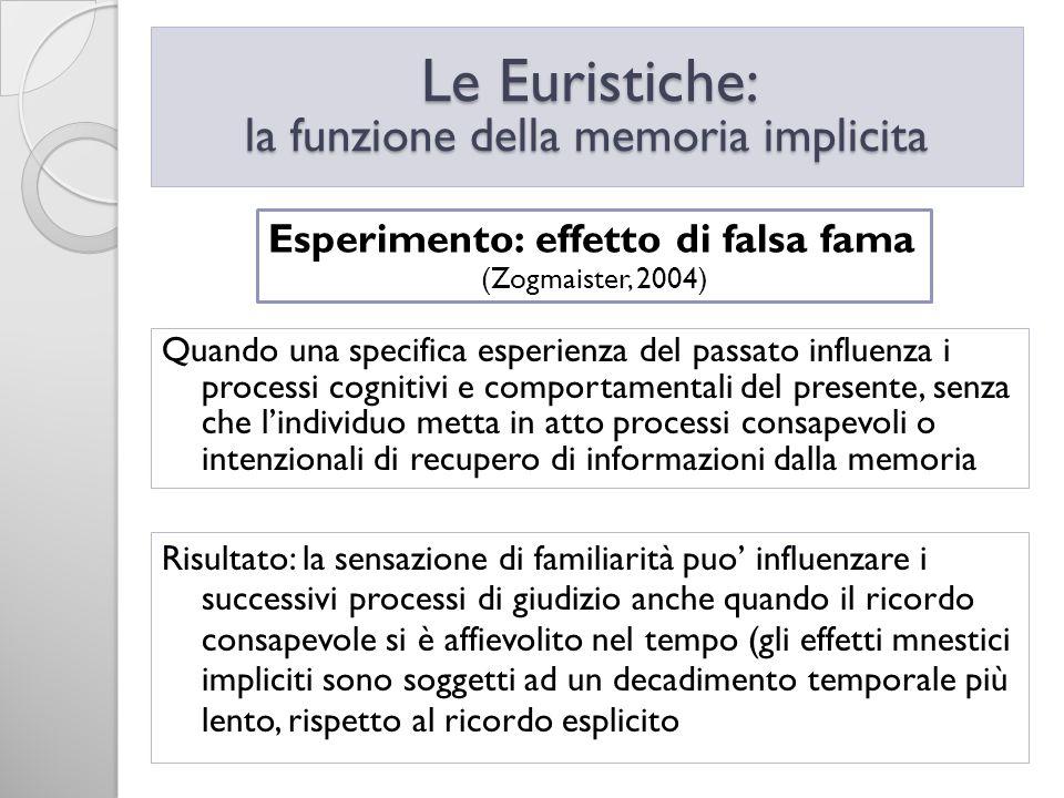 la funzione della memoria implicita