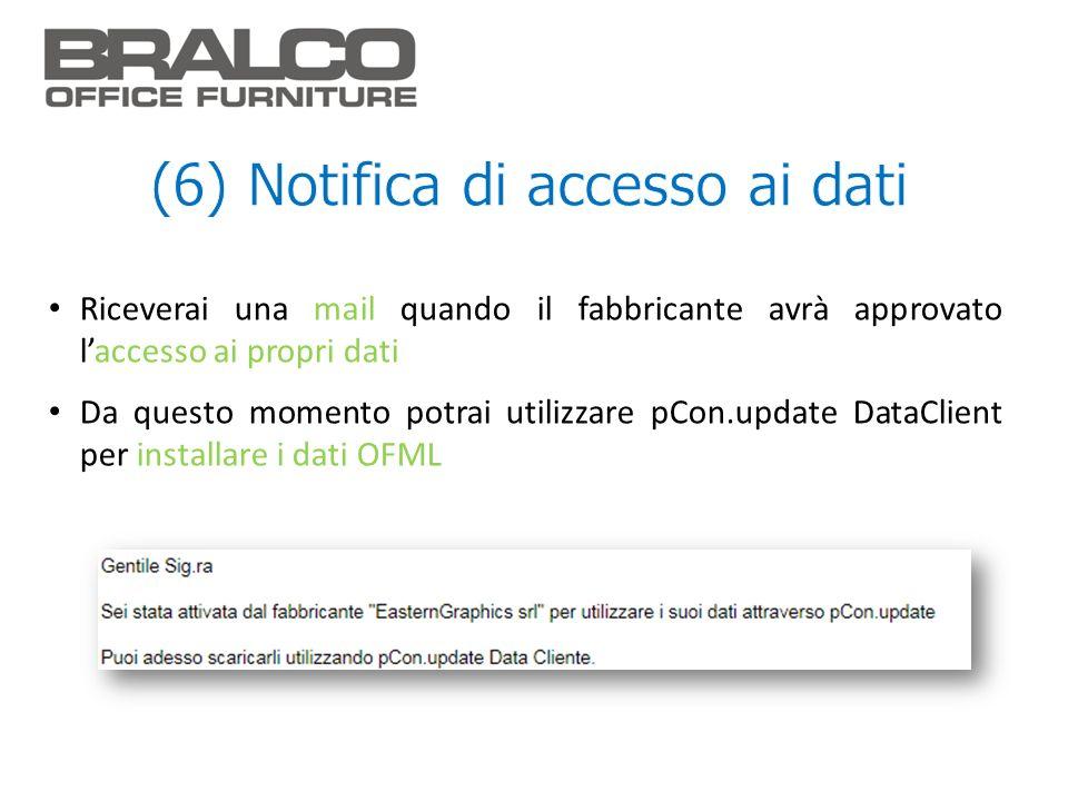 (6) Notifica di accesso ai dati