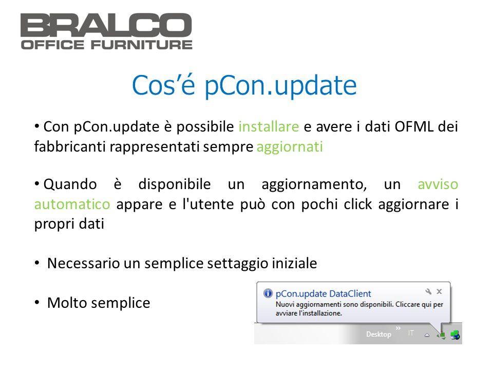 Cos'é pCon.update Con pCon.update è possibile installare e avere i dati OFML dei fabbricanti rappresentati sempre aggiornati.