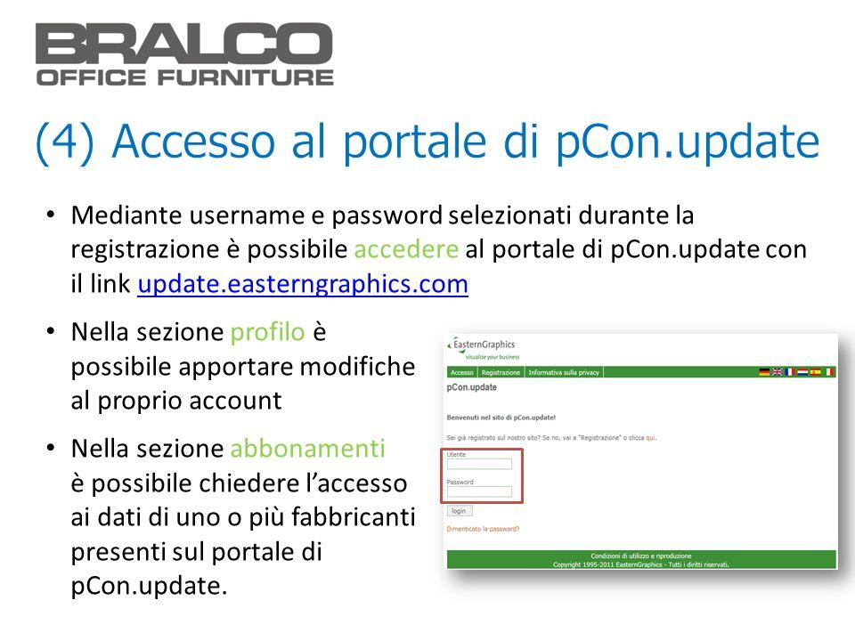 (4) Accesso al portale di pCon.update