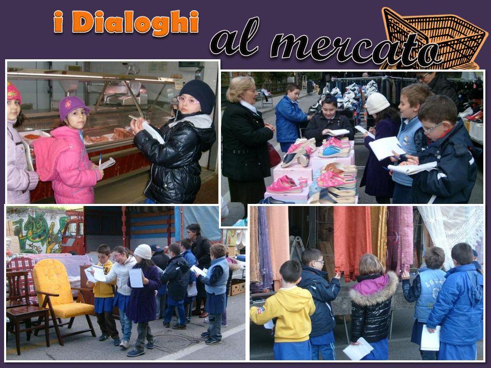 i Dialoghi al mercato I bambini vengono condotti al mercato.