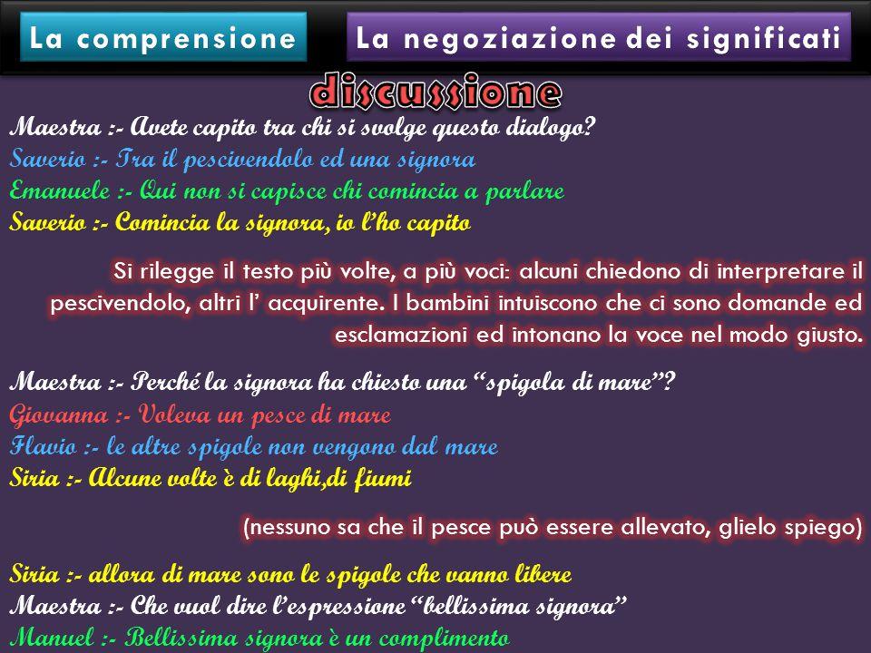 La negoziazione dei significati