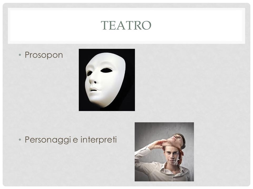 teatro Prosopon Personaggi e interpreti