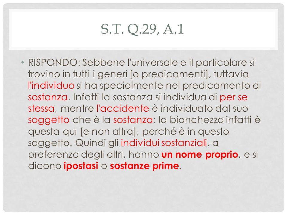 S.T. q.29, a.1