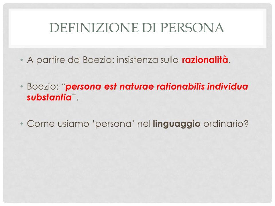 Definizione di persona