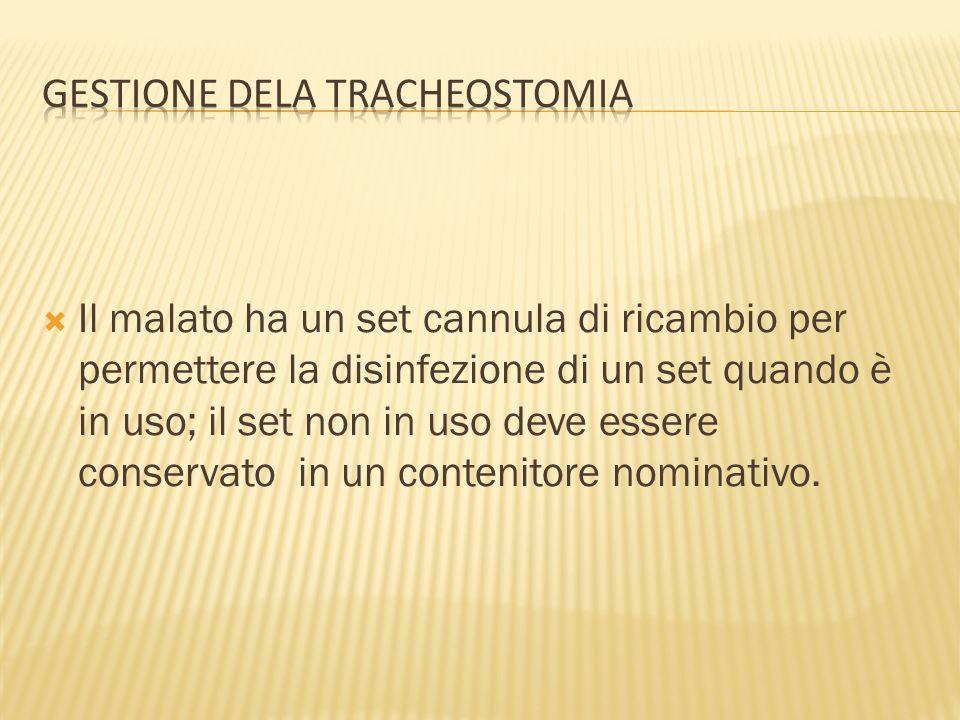 GESTIONE DELA TRACHEOSTOMIA