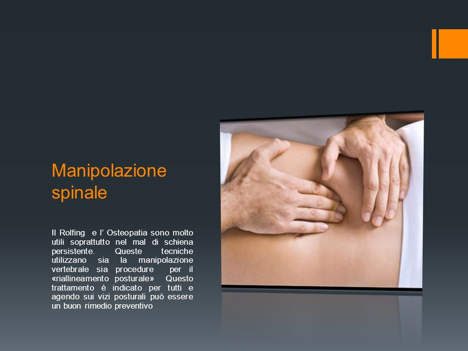 Manipolazione spinale