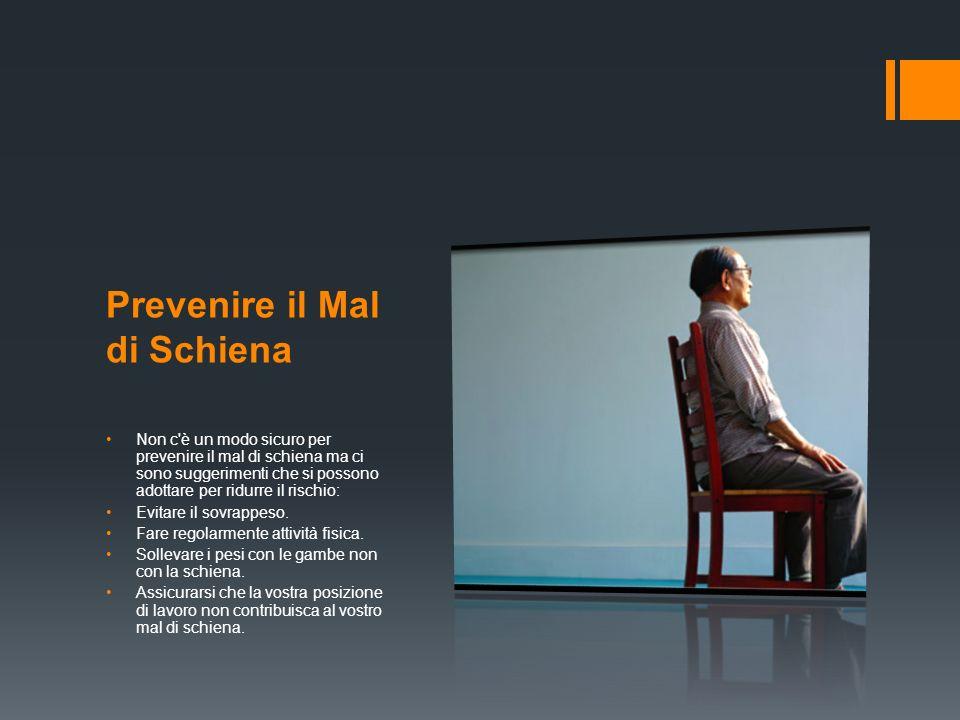 Prevenire il Mal di Schiena