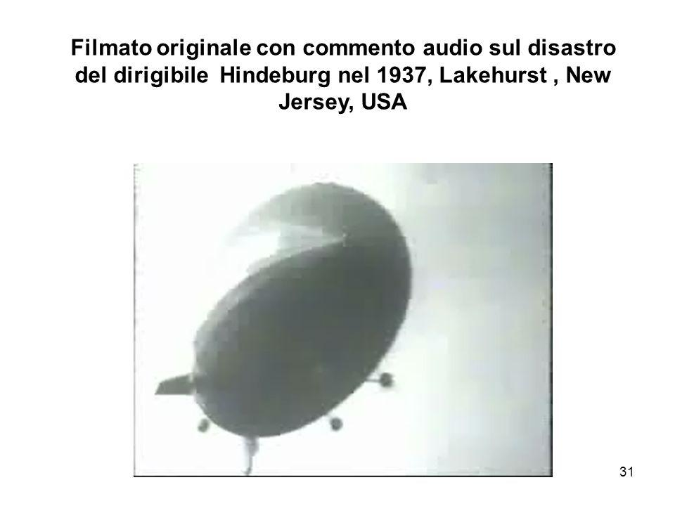 Filmato originale con commento audio sul disastro del dirigibile Hindeburg nel 1937, Lakehurst , New Jersey, USA