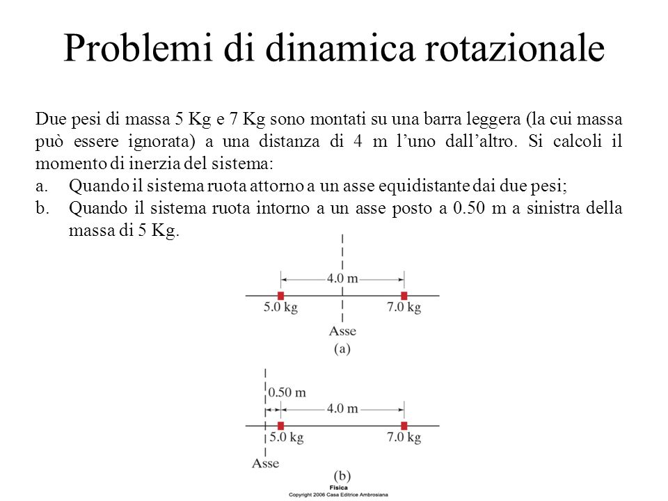 Problemi di dinamica rotazionale