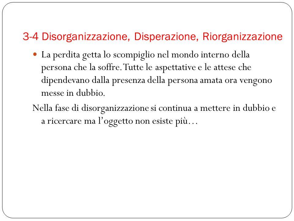 3-4 Disorganizzazione, Disperazione, Riorganizzazione