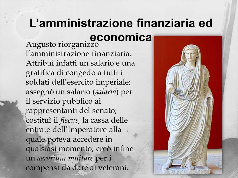 L'amministrazione finanziaria ed economica