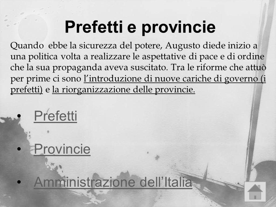 Prefetti e provincie Prefetti Provincie Amministrazione dell'Italia