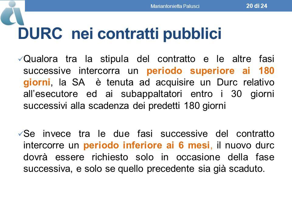 DURC nei contratti pubblici