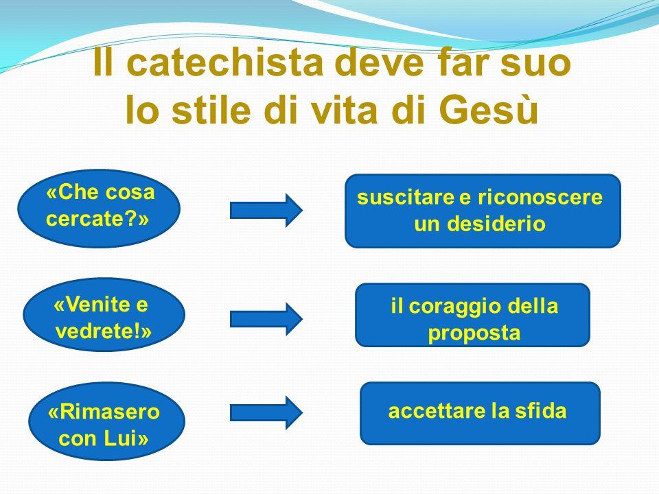 Il catechista deve far suo lo stile di vita di Gesù