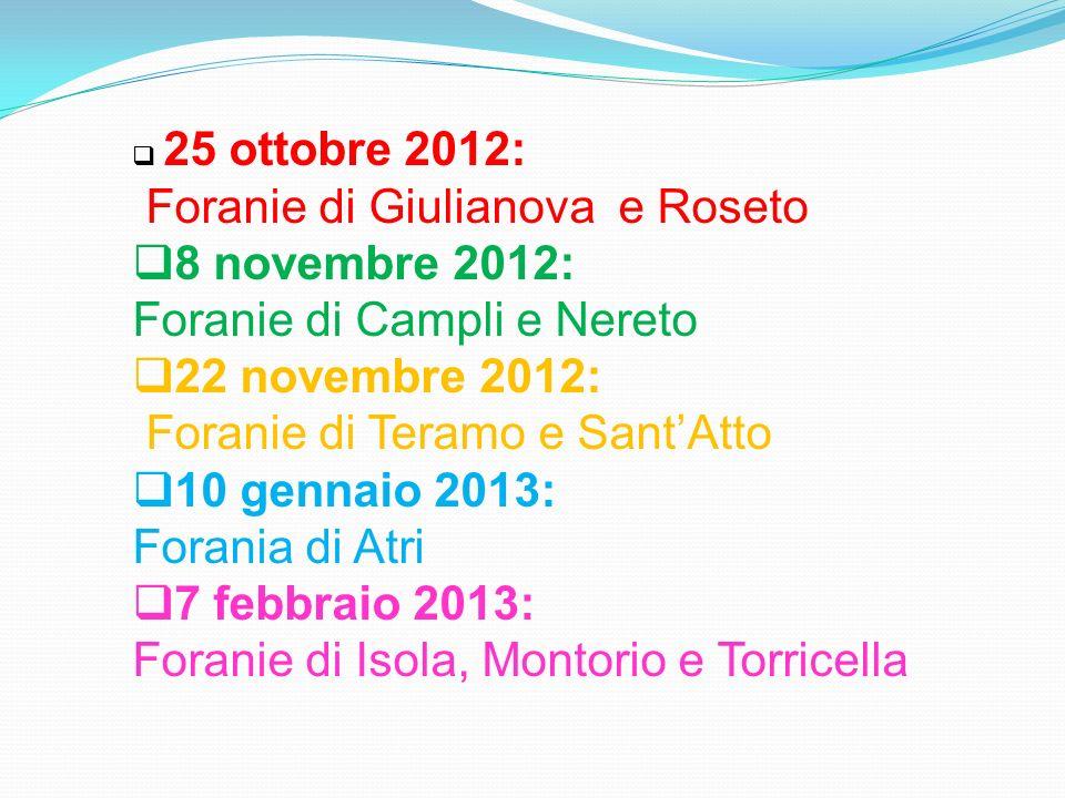 Foranie di Giulianova e Roseto 8 novembre 2012: